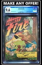 Forest Fire 1st Smokey Bear Comic First Printing Cgc 9.6 Nm+ 1949 File Copy