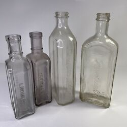 Antique Glass Liniment Miracle Cure Bottles From Canada 1880's To 1950's Rundles