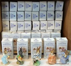 Lot Of 116 Royal Albert Beatrix Potter Figurines All In Their Original Boxes