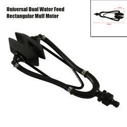 Universal Dual Water Feed Rectangular Muff Head Motor Cleaner Flusher For Boats