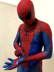 The Amazing Spiderman 2 High Quality Reflective Material 3d Coating Line Suit