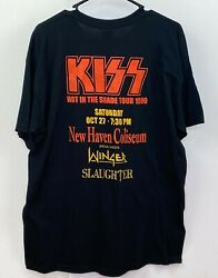 Vintage Kiss Band Concert T-shirt Hot In The Shade Tour New Haven Unworn Carr