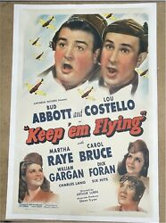 Keep And039em Flying Abbott Costello Rare Original Vintage Movie Poster One Sheet