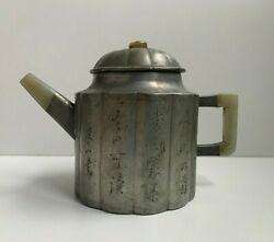 Antique Chinese Pewter Teapot