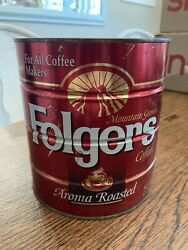 Original Folgers 39oz Coffee Can Lebowski For All Coffee Makers Aroma Roasted