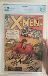 Silver Age Marvel Hero Comic X-men 4 First Scarlet Witch And Quicksilver Cbcs 3.0