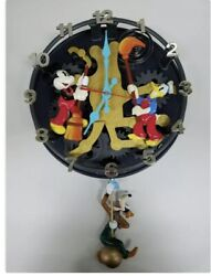 Disney Mickey Mouse Animated Talking Wall Clock Working