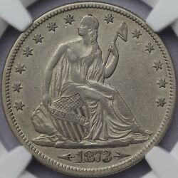 1873 Arrows 50c Seated Liberty Half Dollar Ngc Xf Details Cleaned