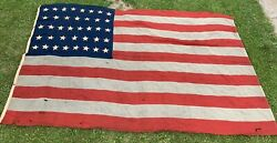 Rare 1880s Original United States Usa 38 Star American Flag 14and0396x9and039 Great Shape