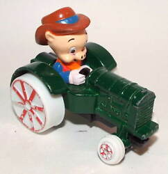 Ertl Loony Tunes Die Cast Farm Tractor Driven By Porky Pig