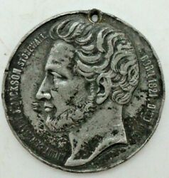 Rare Stonewall Jackson Medal - Incorrect Birth Date On Medal - Struck In Paris