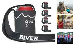 Giveandrsquor Hands Free Neck Beverage Insulator - Fits Cans Or Bottles | Dark Gray