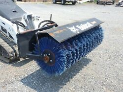 2020 Bobcat 48 Angle Broom Fits Mt55 And Mt100/s70 Skid Steers Poly Bristle