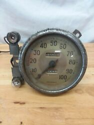 Vintage 1930and039s/40and039s Ford Waltham Speedometer 0-100 Mph