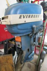 Evinrude Fastwin 15hp 15014 Outboard Motor 1955 -read- Local Pickup Only