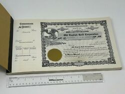 Vintage Book Of 100 Unissued Stock Certificates - Old English Gold Corporation