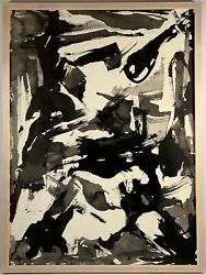 Listed American Artist Murray Hantman 1904-1999 Signed Ink Painting 29