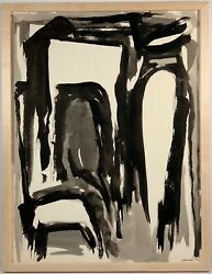 Listed American Artist Murray Hantman 1904-1999 Signed Ink Painting On Paper 3