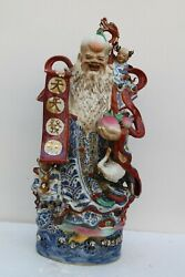 Vintage Exceptional Quality Great Work Chinese Porcelain Statue Figurine Nh1616