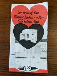 Vintage Youngstown Metal Kitchen Fold Out Brochure Cabinet Sink Models