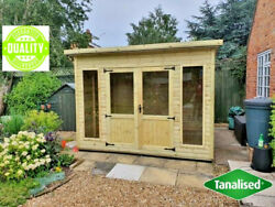 Pent Shed Summerhouse Garden Office Summer House Man Cave Delivery 8-14 Weeks