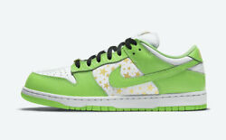 New Authentic Nike Sb Dunk Low Supreme Stars Mean Green Dh3228-101 11.5 12 Ds