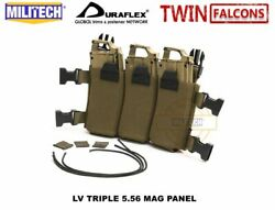 Molle Triple Magazine Pouch Holder Tactical Multicam Chest Rig Mag Carrier Bag
