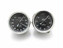 New Replica Smith 0-120 Miles Speedometer And Tachometer Set @cl