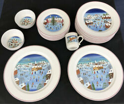 Dinnerware Set Villeroy And Boch Naif Christmas Porcelain China Service For 8