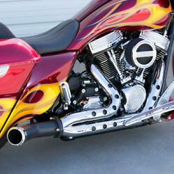 Covingtons C1702-b Destroyer Holeshot 2-into-1 Exhaust Harley Touring Baggers