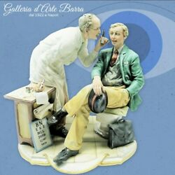 Porcelain Of Capodimonte. Oculist Doctor With Paziente. Great Dimensions