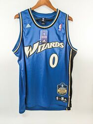 Nwt Gilbert Arenas Wizards Adidas Swingman Limited Edition Jersey Xl Blue Signe