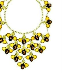 Kate Spade Queen Bee Bib Necklace Nwt Rare Limited Edition Impossible To Find
