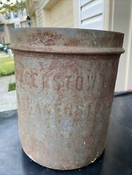 Vintage Hagerstown Dairy Co Metal Can Container Advertising