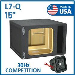 15 Single Vented Reinforced Subwoofer Box Enclosure For Kicker L7q Solo-baric