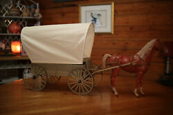 Marx Botw Johnny West Custom Covered Wagon With Horse And Cloth Wagon Cover