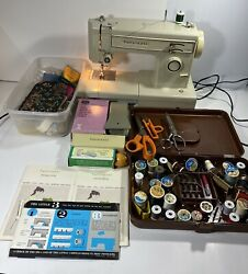 Sears Kenmore Portable Sewing Machine W/ Pedal And Accessories Model 158 -12312