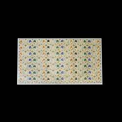 5and039x3and039 White Marble Table Top Stone Inlay Center Coffee Malachite Antique Y1