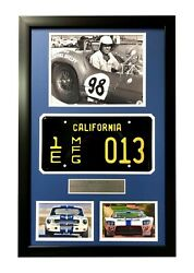 Carroll Shelby Framed Movie Prop Plate Ford Vs Ferrari Gt350 Gt40 Collage Photo