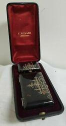 Antique Vintage Sterling Silver Mounted Cigarette Case Coin Purse French Box