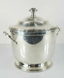 Antique Vintage Sterling Silver Covered Ice Bucket Worden Munnis Cocktail