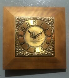 Vintage 1950's Ge General Electric Telechron 2s57 Electric Wall Clock Ships Free