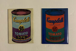 Campbell Soup Magnet Lot Warhol Can 2003 Kitchen Refrigerator Stove Qty 2
