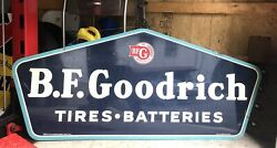 Original Vintage Bf Goodrich Double Sided Sign