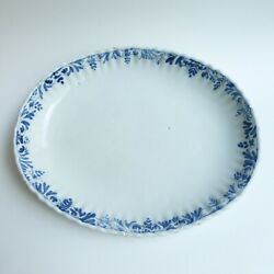 Faience Of South Western - Toulouse / Auch - Dish Oblong Gyrus - 17th 18th