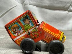 Antique Yone Japan Litho Wind-up Tin Toy Car In Great Condition