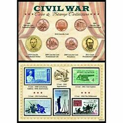 Civil War Coin And Stamp Collection, 6 X 4