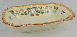 Handcrafted Made In Italy For Sur La Table Serving Casserole Baking Dish Floral