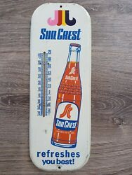 Vintage Advertising Sun Crest Soda Pop Fountain Store Thermometer 3