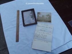 1891 Lot A C Hooker The One Horse Grocery Fairport Ny Letter Cabinet Photo Real